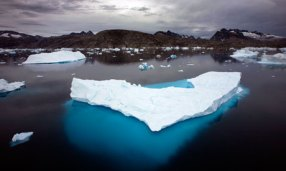 Why is the sea ice in the Arctic melting?