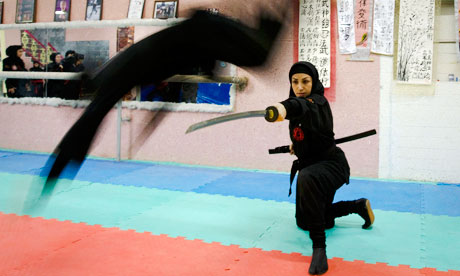 Women ninjas in Karaj, northwest of Tehran