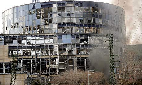 Earthquake Hd Wallpaper Bomb Exploding A Building