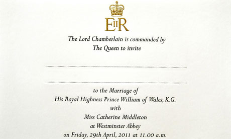 Royal wedding the Prince William and Kate Middleton guest list as