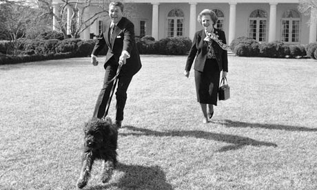 Ronald Reagan, Margaret Thatcher and handbag