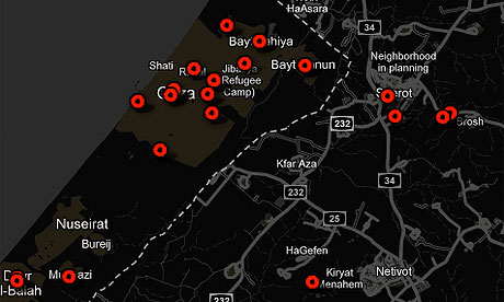 Gaza conflict interactive map