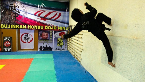 iran female ninjas: Gravity's for wimps.