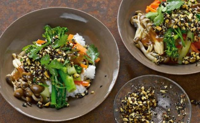 Yotam Ottolenghi Recipes Miso Veg And Rice With Black Sesame Dressing Plus Hearty Fried Rice