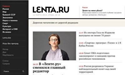 Editor of independent Russian news site replaced with pro ...