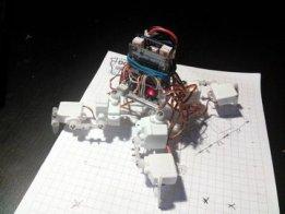 Pico-Kubik quadruped robot