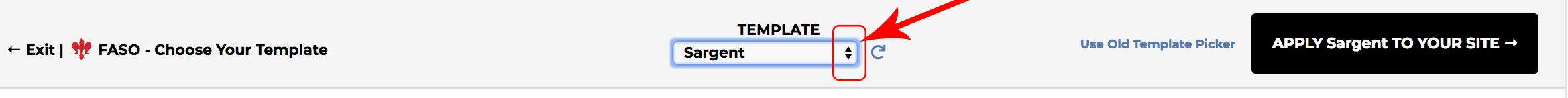 BoldBrush \u2014 How do I change my template?