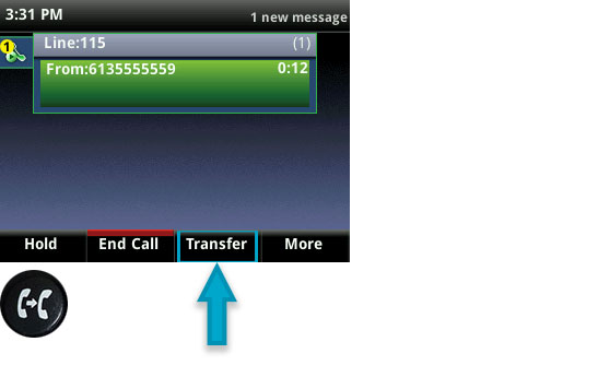 Versature \u2014 BLIND CALL TRANSFER ON THE VVX 400 SERIES