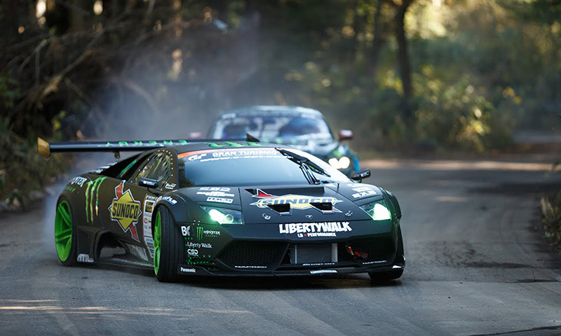 Ken Block Cars Wallpaper This Lamborghini Vs Mustang Drift Battle Is What Dreams