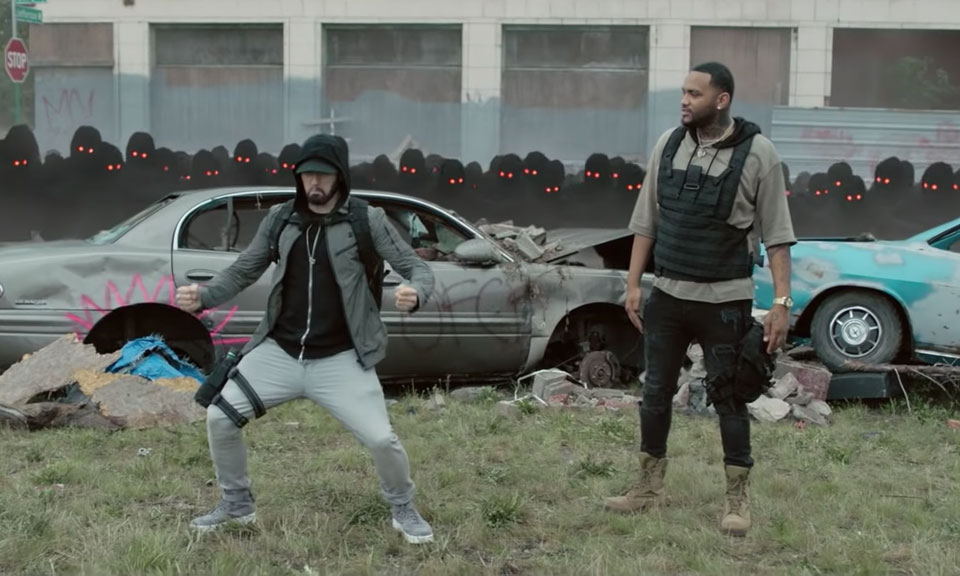 Fall Wallpaper With Verse Eminem Amp Joyner Lucas Dance In Post Apocalyptic Lucky You