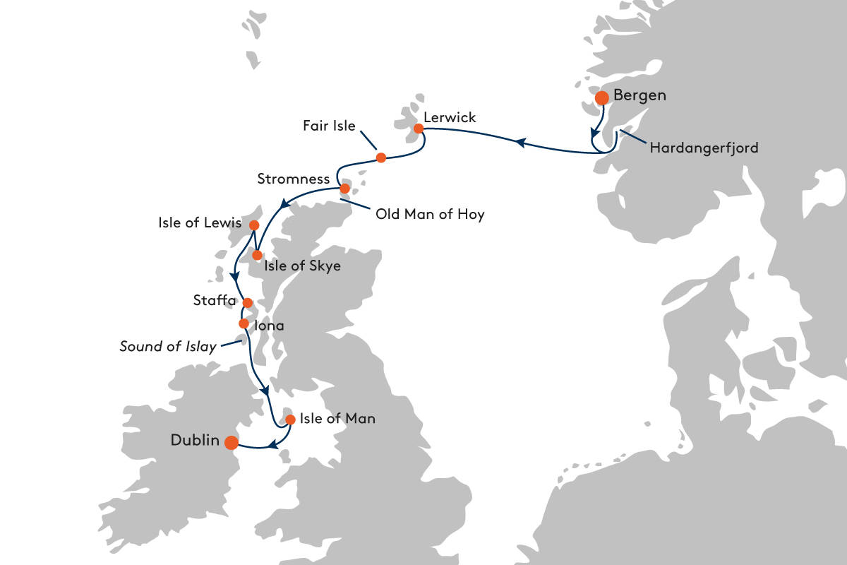 Glasregal Zigzag+atlas Expedition Cruise From Bergen To Dublin With Hanseatic Nature