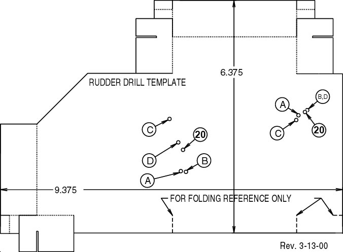 Rudder Drilling - drill template