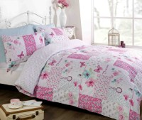 Pink Duvet Quilt Cover Bedding Bed Set Single Double King ...