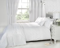 Luxury White Bedding Bed Sets OR Curtains / Matching ...