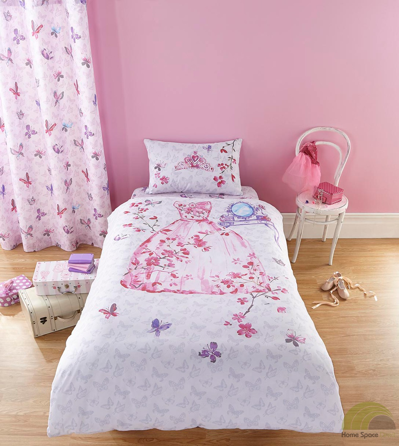 Girls Bedding Girls Princess Single Duvet Cover Bed Set Or Curtains Pink