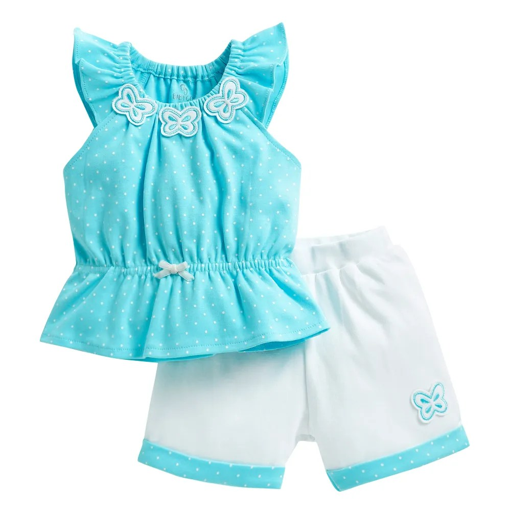 Bad Set For Baby Polka Dot Blue Short Set