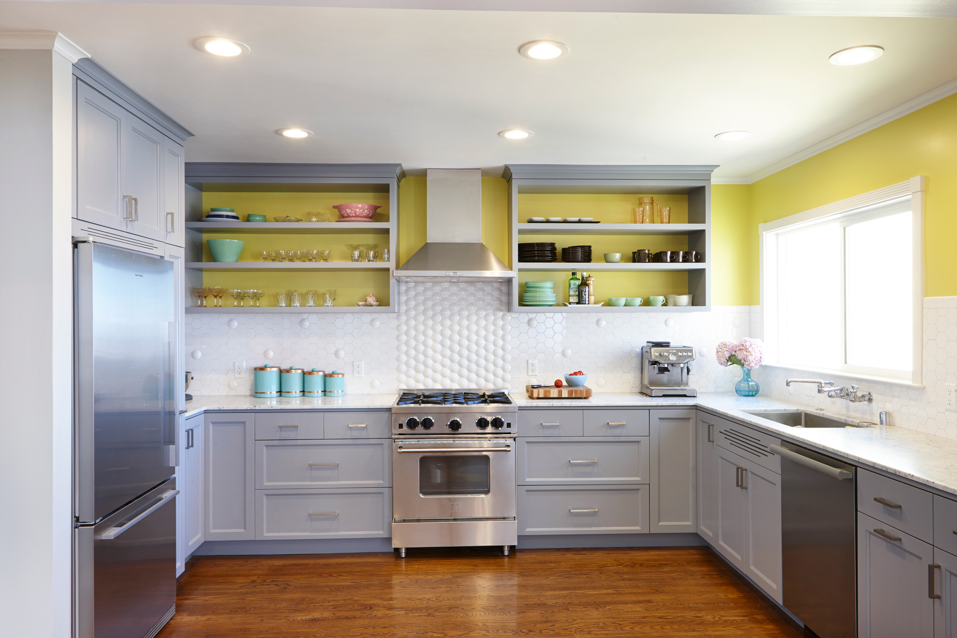 Yellow Kitchen Design Ideas Interior Paint Color Ideas Painting Inside Kitchen Cabinets Tile