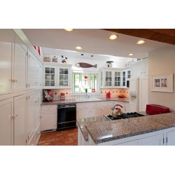 Small Crop Of Ceiling Cabinets Over Island