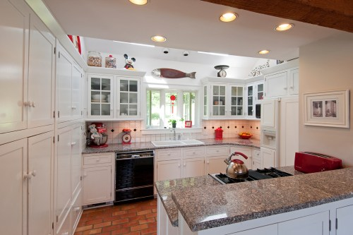 Medium Of Ceiling Cabinets Over Island