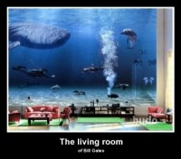 The gallery for --> Bill Gates Living Room Whale