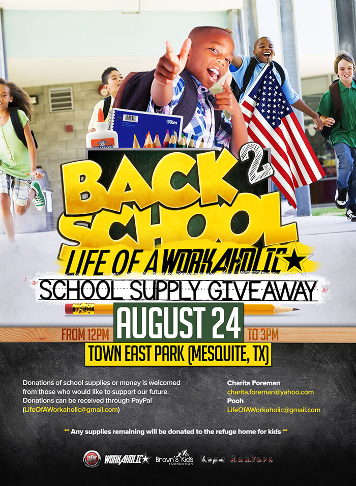 Dallas Print Design - Back to School Drive iLoveJones - back to school flyers