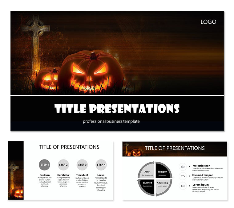 Halloween Tradition Keynote templates ImagineLayout - halloween website template