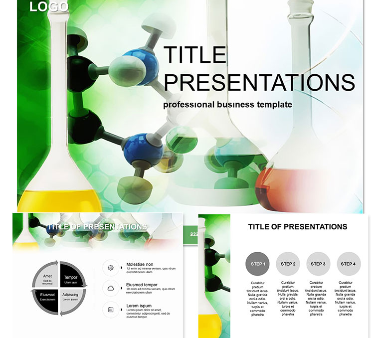 Chemical bulb for Laboratories Chemistry PowerPoint Templates