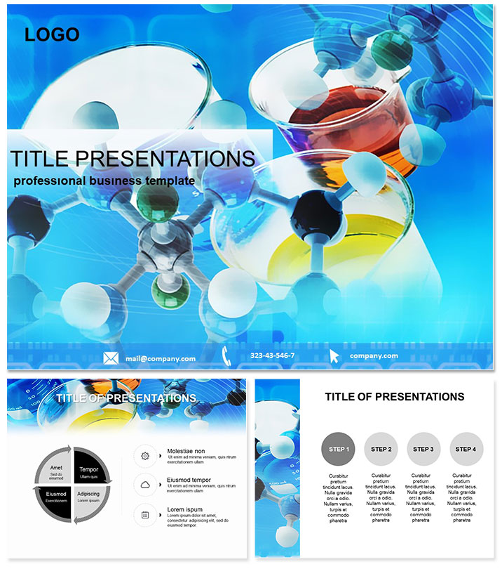 Chemical formula Chemistry PowerPoint Templates ImagineLayout