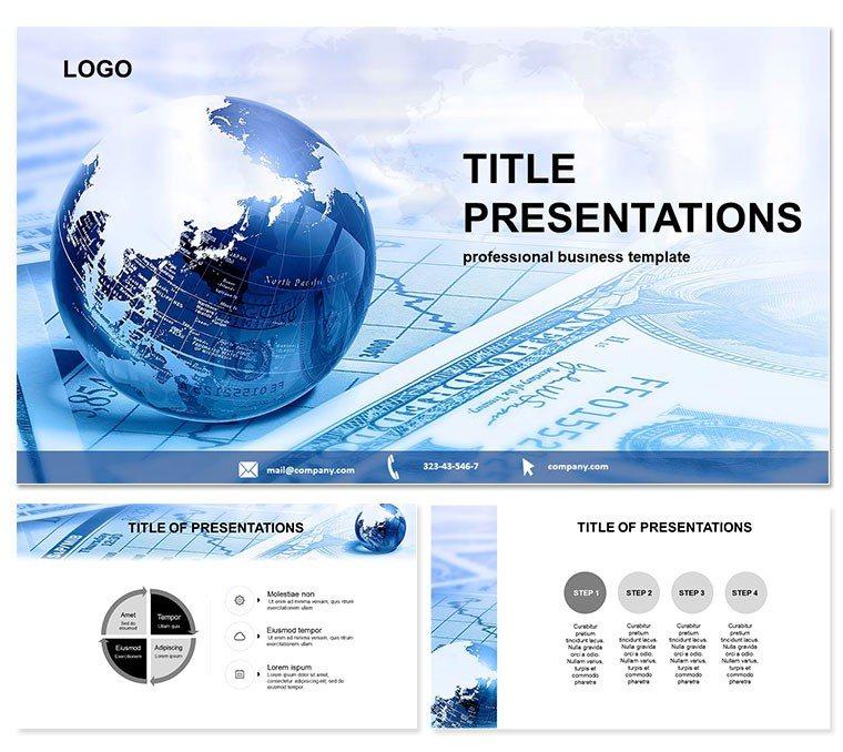 Global Finance PowerPoint template ImagineLayout - global powerpoint template