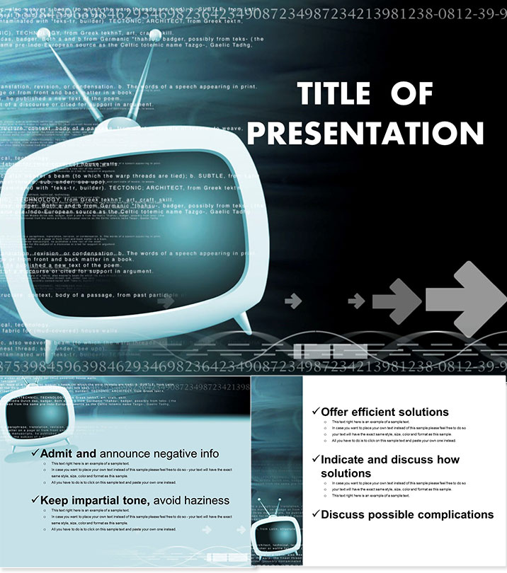 Digital TV PowerPoint templates ImagineLayout