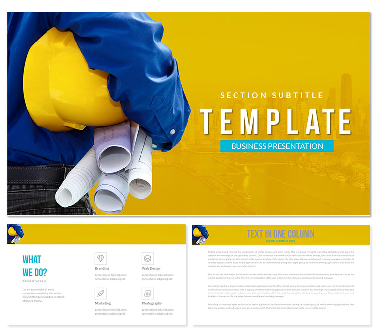Building Construction PowerPoint templates - Presentation