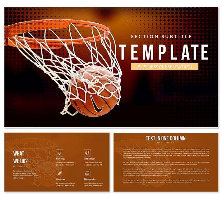 Basketball Hoop PowerPoint template ImagineLayout