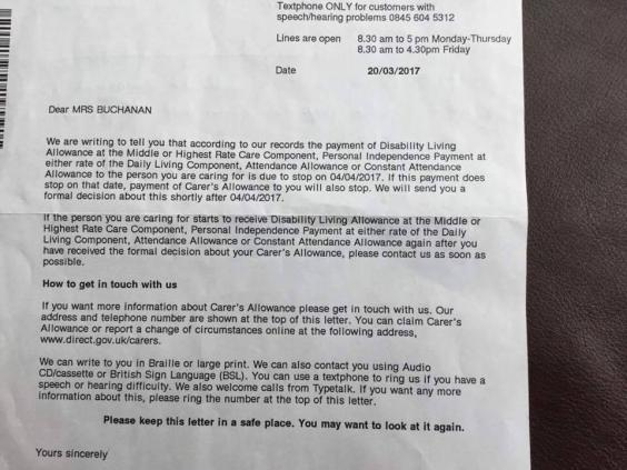 Bed-ridden stroke victim told to use food banks after DWP admin - attendance allowance form