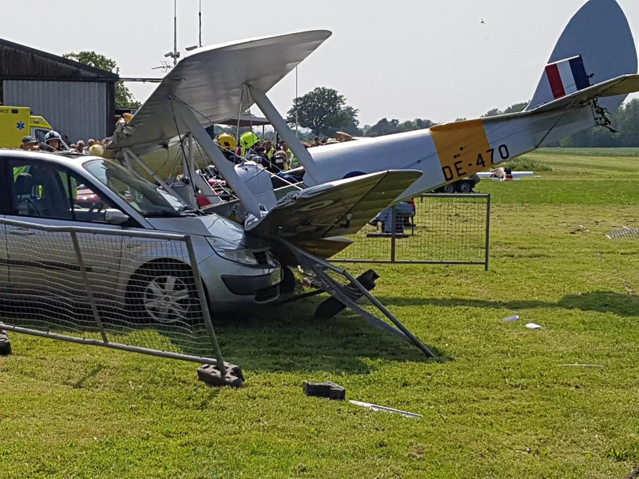 Spectator Taken To Hospital After Tiger Moth Biplane