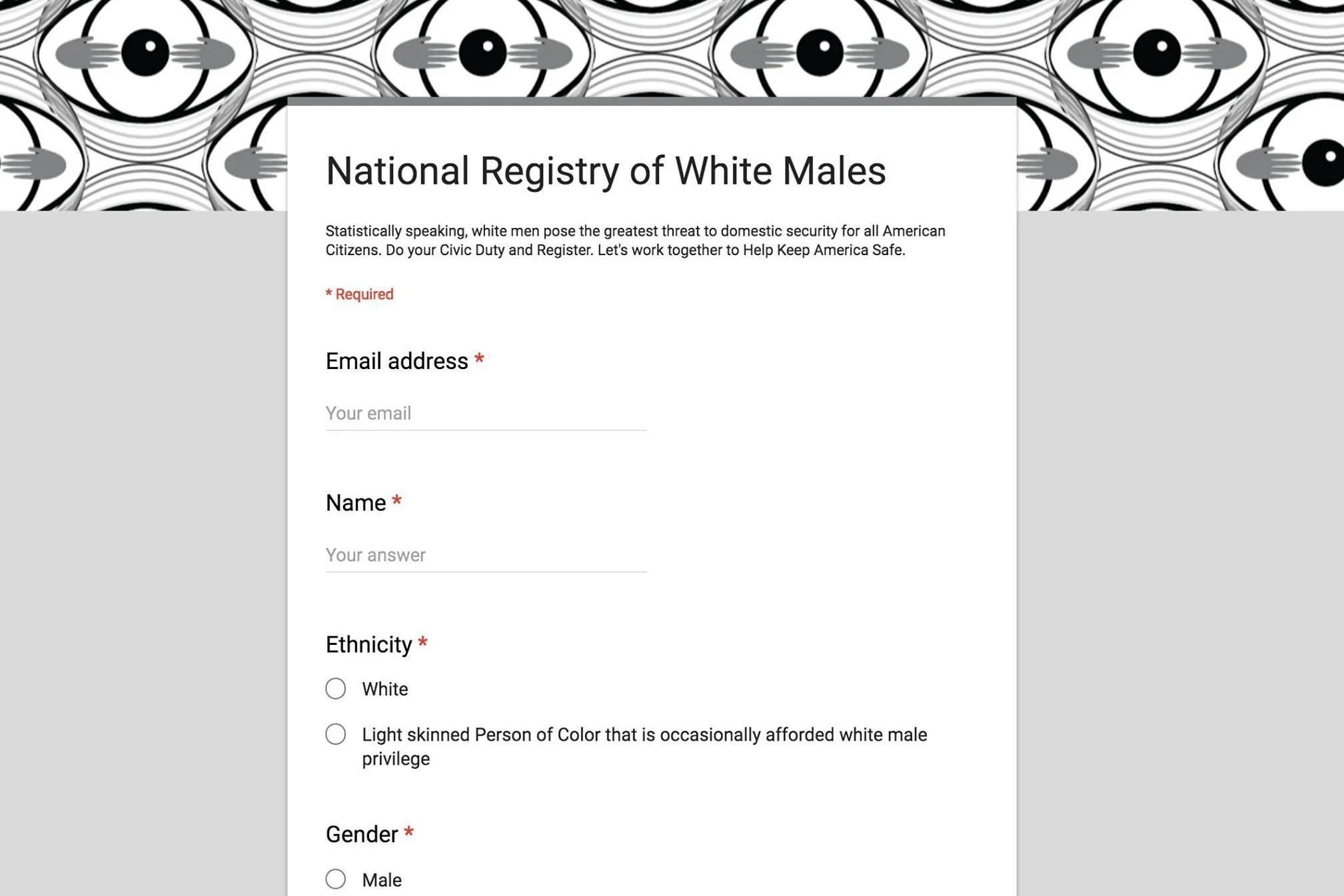 Credit Habitat Bourges Someone Created A National Registry Of White Males For Until We