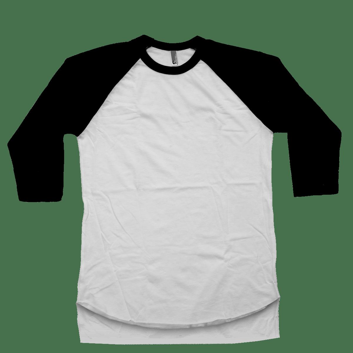 Black t shirt blank template - Black T Shirt Template For Photoshop Poly Cotton 3 4 Sleeve Raglan Shirt Download