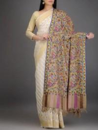 Buy Beige-Multicolor Kani Pashmina Shawl Online at Jaypore.com