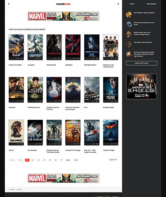 Movies news magazine Joomla template - JA Moviemax Joomla