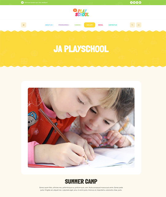 Preschool Kindergarten Joomla Template for kids education - JA