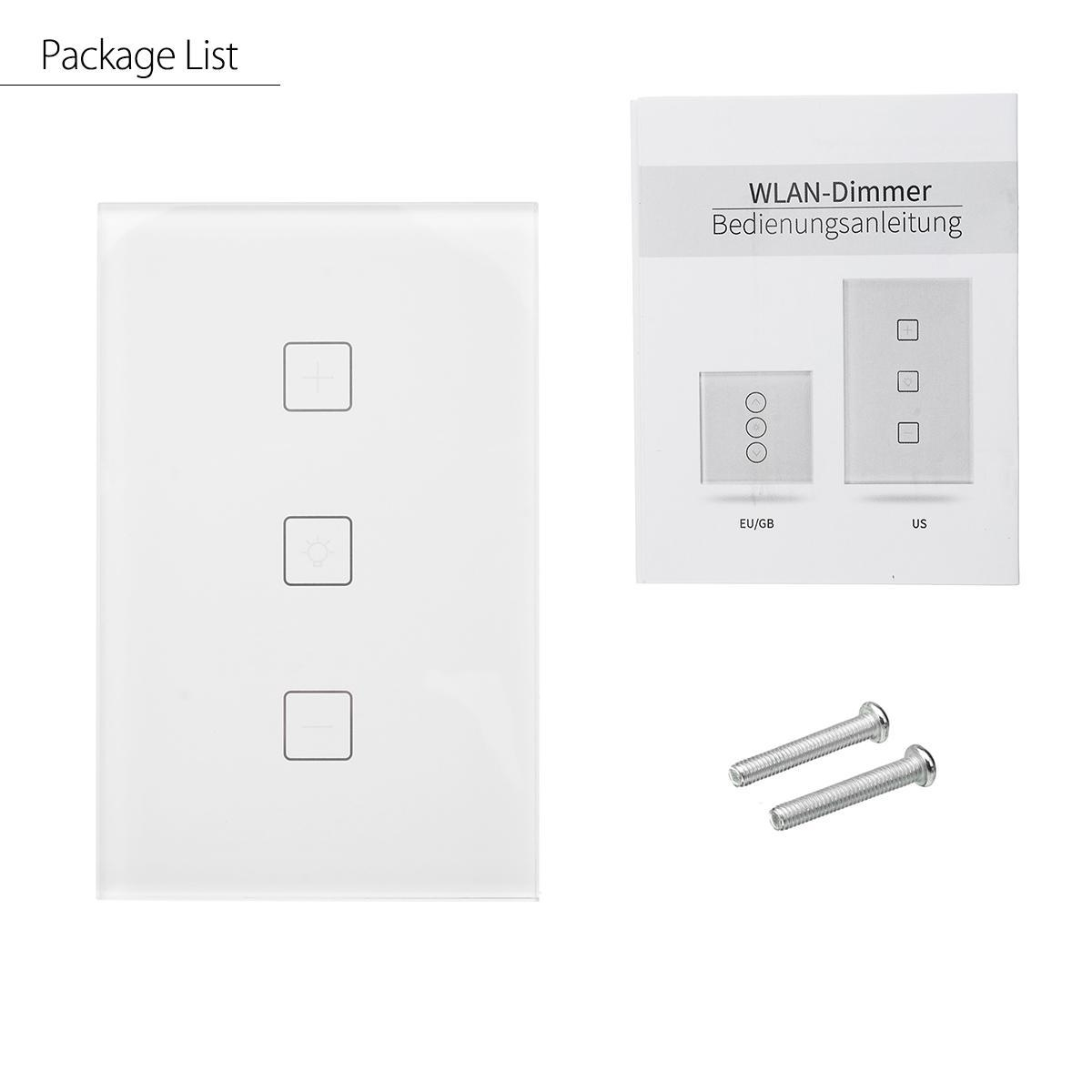 Wlan Dimmer Generic Wifi Smart Dimmer Light Wall Switch Touch Remote Control