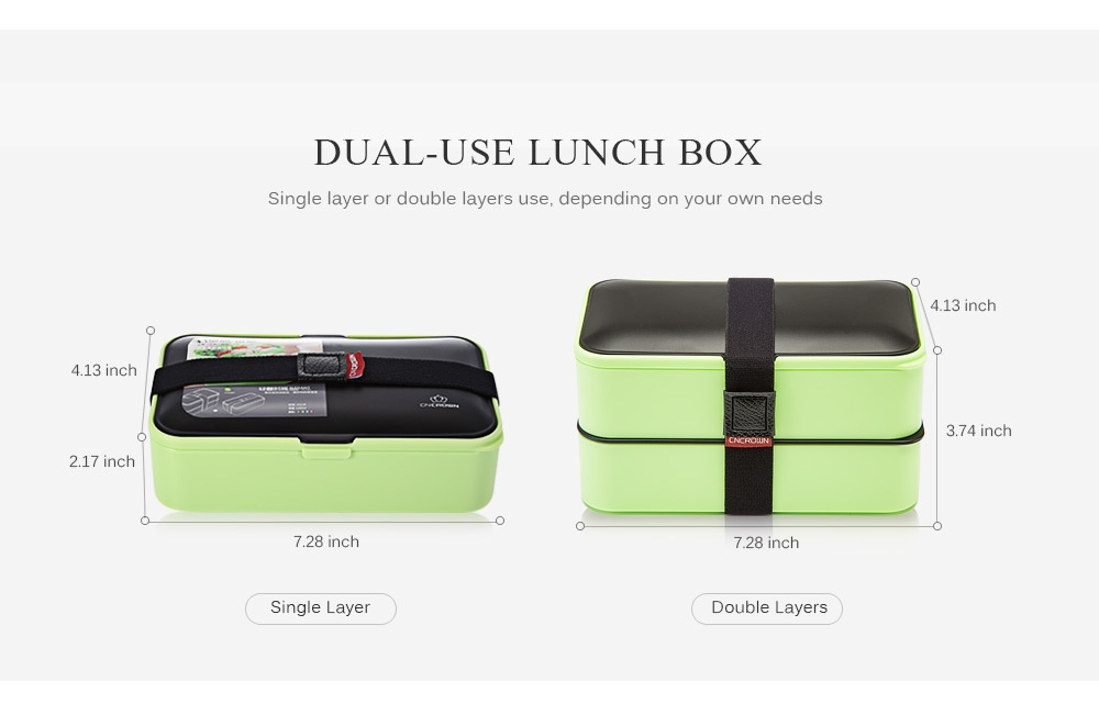 Buy Generic 20116 Plastic Bento Lunch Box 2 Layer Food
