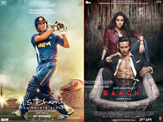 M.S. Dhoni - The Untold Story Overtakes Baaghi; Becomes 6th Highest Grosser Of 2016