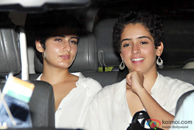 Fatima Sana Shaikh And Sanya Malhotra at Aamir Khan's residence