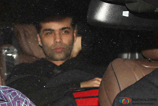 Karan Johar attend Party at Aamir Khan's residence