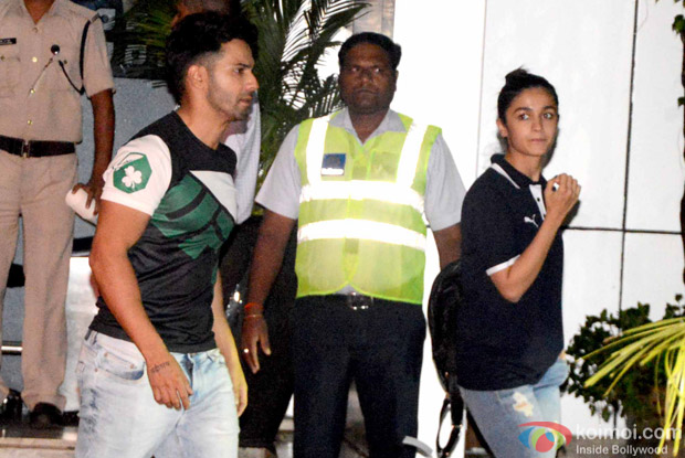 Alia Bhatt and Varun Dhawan spotted at Airport