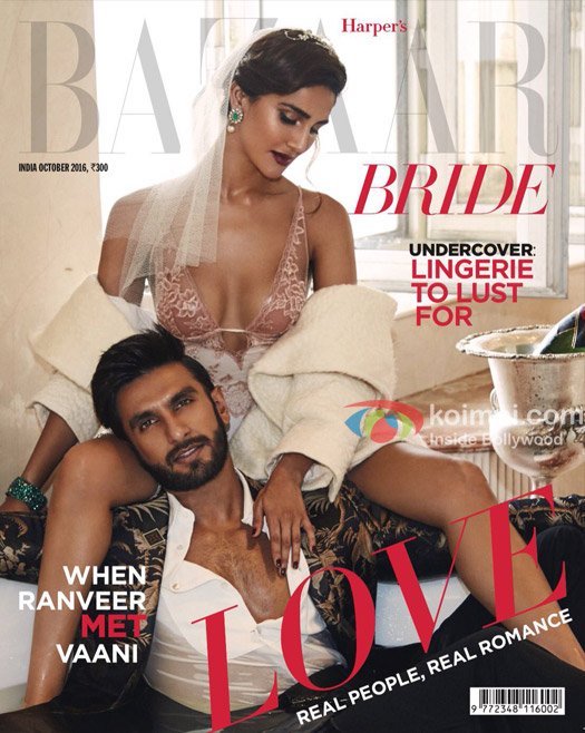 Ranveer and Vaani on Harper's Cover