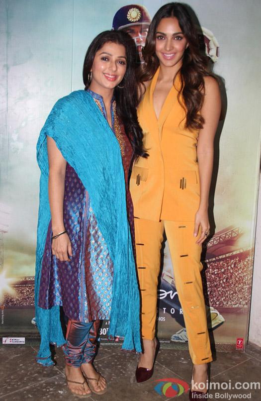 Kiara Advani and Bhumika Chawla spotted at Mehboob Studio