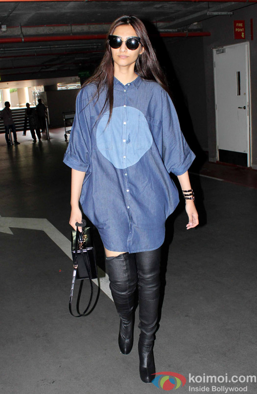 Sonam Kapoor spotted at Airport