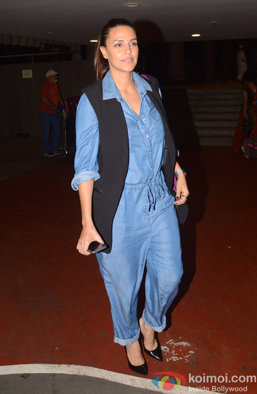Neha Dhupia spotted at Airport