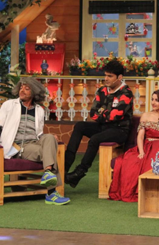 Soha Ali Khan and Neha Dhupia on the sets of The Kapil Sharma Show